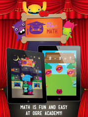 Ogre Academy Math for iPad – Have fun, solve math problems, feed ogres, and keep them from underneath your bed!