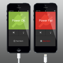 Protect your home for free with Power? for iOS: A simple, loud and very reliable power failure monitor