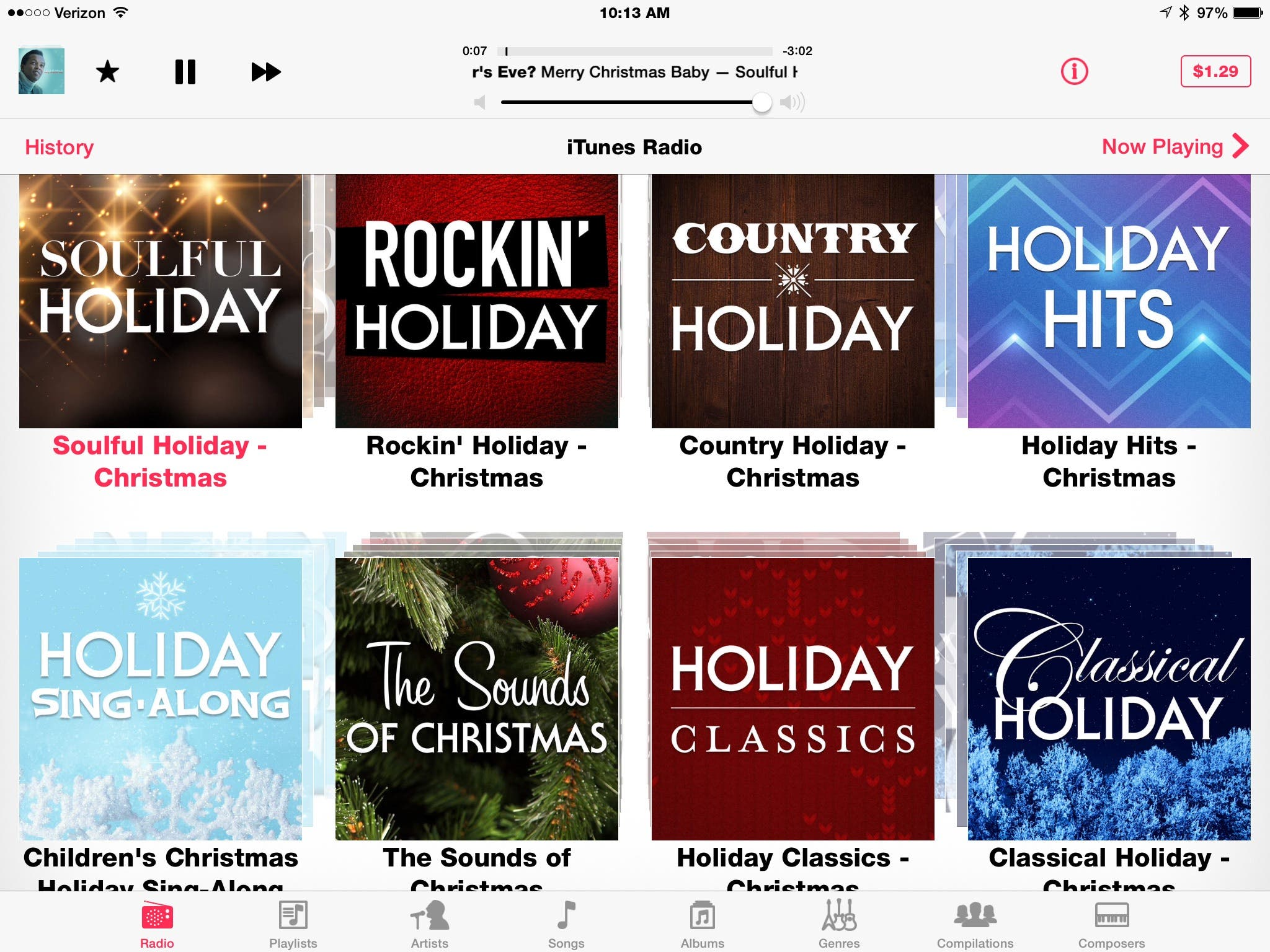 Christmas Music Stations in iTunes Radio