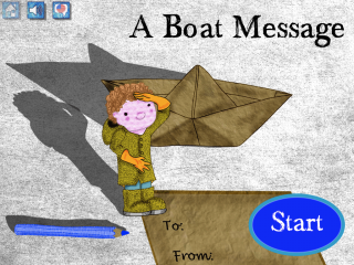 A Boat Message for iPad - Interactive storybook
