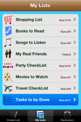 iPhone App For Maintaining All Types Of Lists.