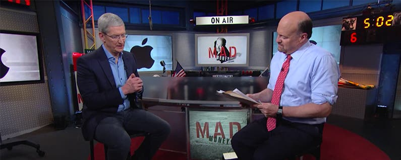 "Tim Cook on Mad Money: ""We're Going to Give You Things That You Can't Live Without"""