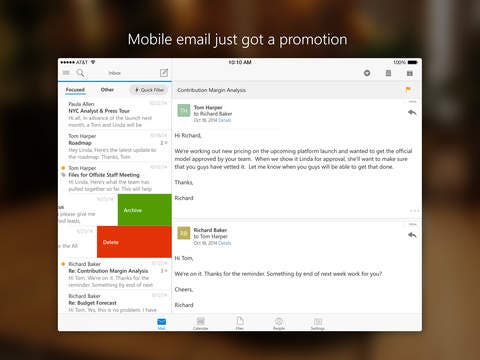 Free Microsoft Outlook Now Available for iPhone and iPad