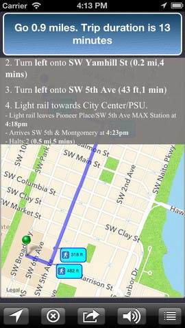 Move On - Transit App with Voice Available for iPhone