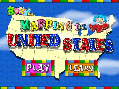 Mapping the USA with Roxy the Star 1.0 for iOS - All 50 States Animated