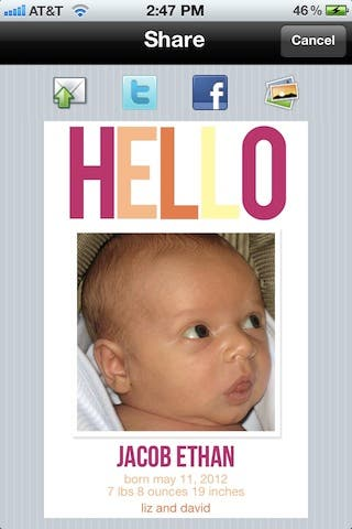 Sweet Greets Baby is an essential app for new parents