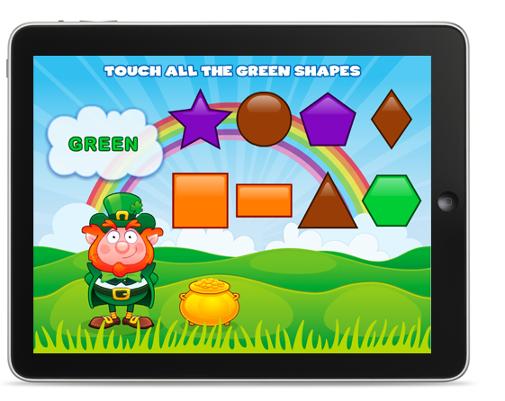Explore and Learn Shapes Preschool App Free for St Patrick's Day Weekend