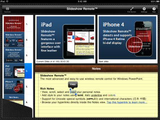 Slideshow Remote turns iPhone into a unique remote control for PowerPoint