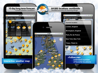New Interactive Weather Map HD app for iPhone and iPad