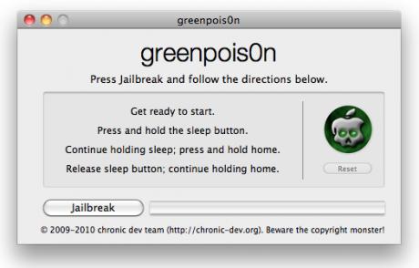 GreenPois0n jailbreak tool