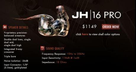 jh audio 16
