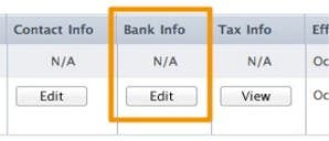 Set-up your own Bank Info