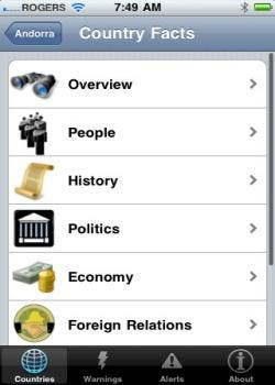 U.S traveller for iPhone