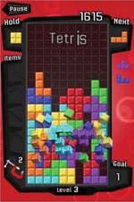 "Screenshot of EA game ""Tetris"" for iPhone"