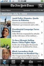 Screenshot of NYTimes