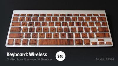 Wooden keyboard skin