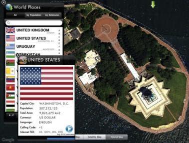 Earth Flags HD app for iPad