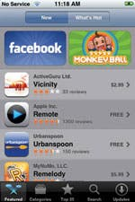 View ing a more detailed description of each item in App Store