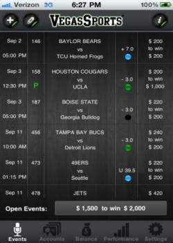 Vegas Sports iPhone app review