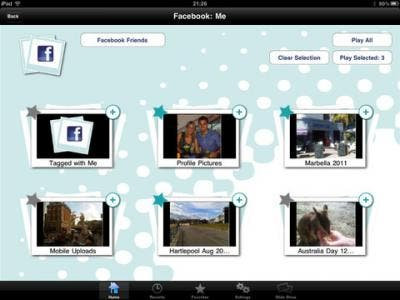 Photo Slide Stream ipad app