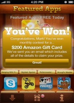 FreeAppWin for iPhone