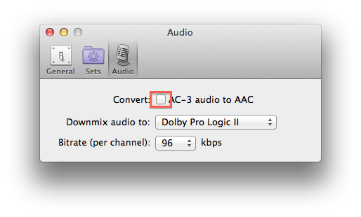 how to change ddts audio in video to ac3
