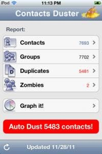 contacts duster pro iphone app review