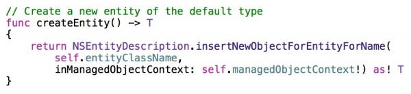createEntity method