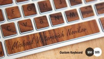 Engraved space bar