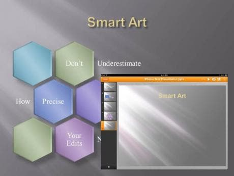 SmartArt - unmodified. Doesn't import at all