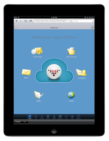 HyperOffice on iPad