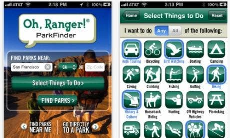 Oh, Ranger! Park Finder