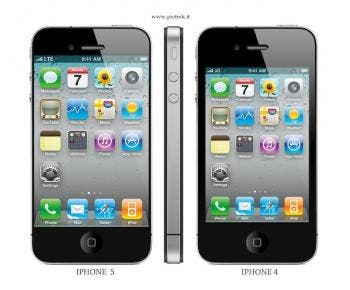 iPhone 5 with larger touchscreen.