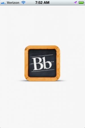 Blackboard Mobile Learn opening screen