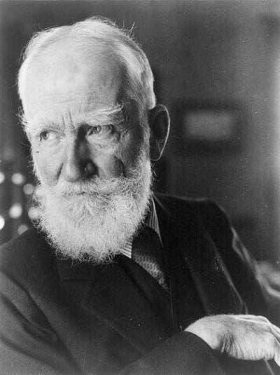 George Bernard Shaw (public domain)