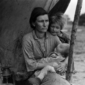 """Migrant Mother"" bu Dorothea Lange"