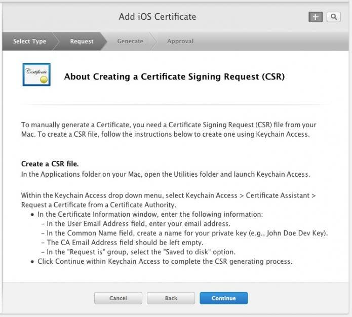 Add an iOS Certificate