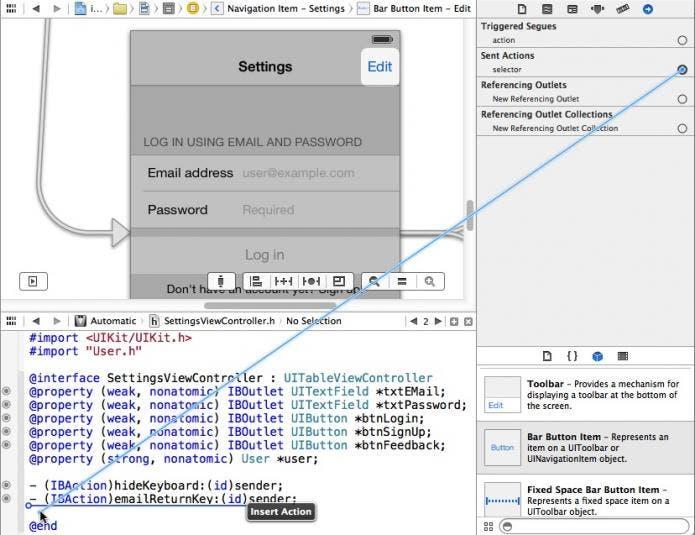 edit button action method