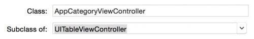 Create AppCategoryViewController