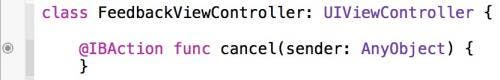 The new cancel method