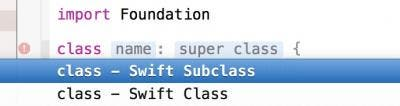Declare a class