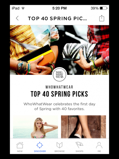 Who What Wear's top 40 spring picks.