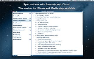 Cloud Outliner 1.0 for Mac OS X: Outliner with iCloud and Evernote Sync