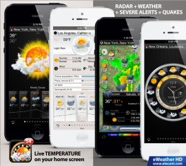 eWeather HD 2.8 introduces new exciting look & feel and severe weather alert maps for U.S. and Europe