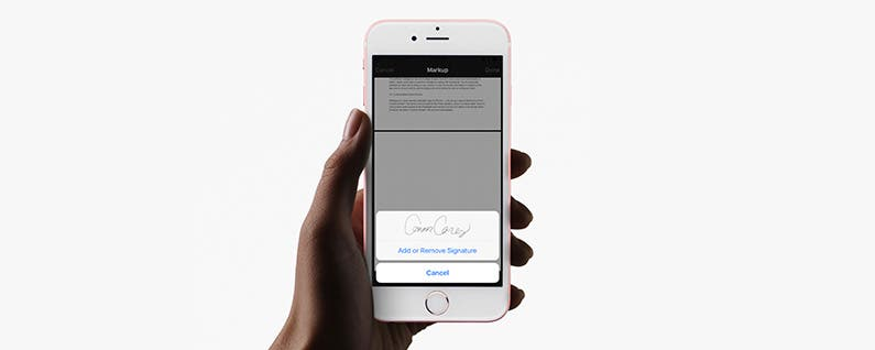 How to Sign a PDF Document in the iOS Mail App