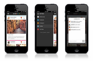 View All Your Social Media In One Place with Socialblend for iOS