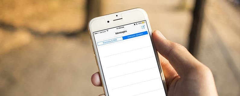 How to Sort Texts from Contacts and Unknown Senders in Messages