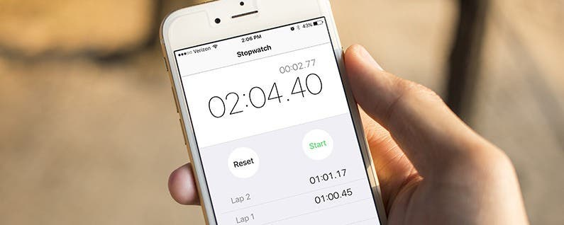 How to Use the iPhone's Stopwatch