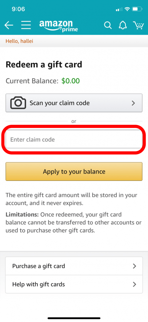 How To Redeem An Amazon Gift Card Or Claim Code On Your Iphone Or Ipad