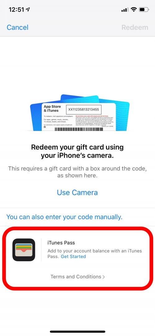 How do i use an itunes card on my ipad